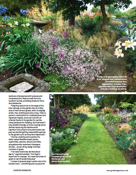 Garden Answers Magazine about NGS garden 'Saffrons' in West Sussex page 2